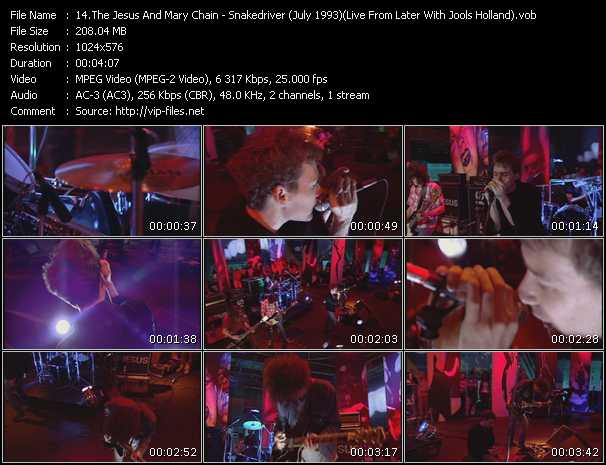 video Snakedriver (July 1993) (Live From Later With Jools Holland) screen