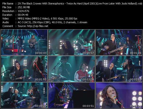 Black Crowes With Stereophonics video screenshot