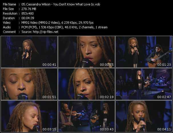 Cassandra Wilson video screenshot