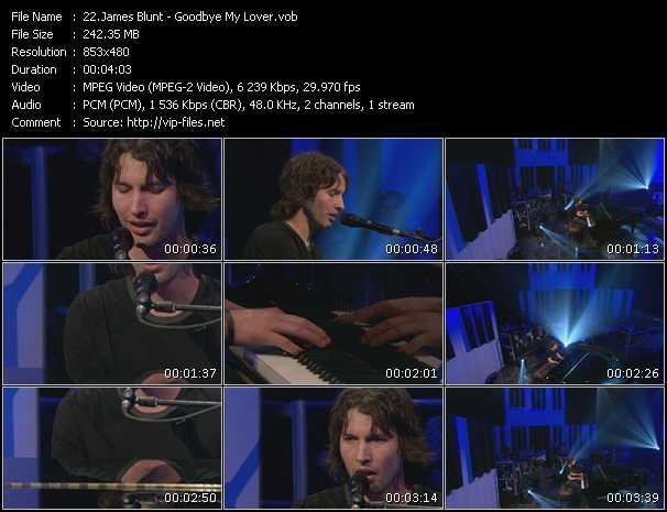James Blunt video screenshot
