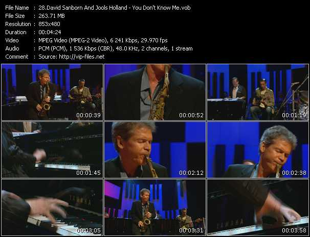 David Sanborn And Jools Holland video screenshot