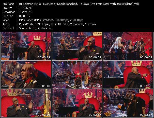 Solomon Burke video screenshot