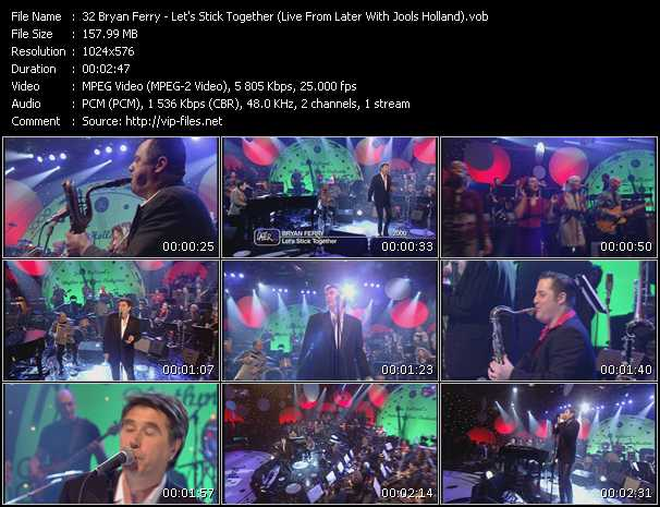 video Let's Stick Together (Live From Later With Jools Holland) screen
