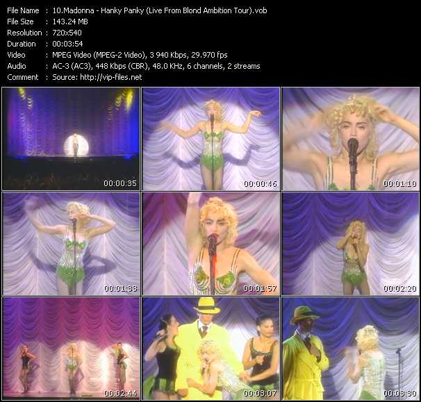 video Hanky Panky (Live From Blond Ambition Tour) screen