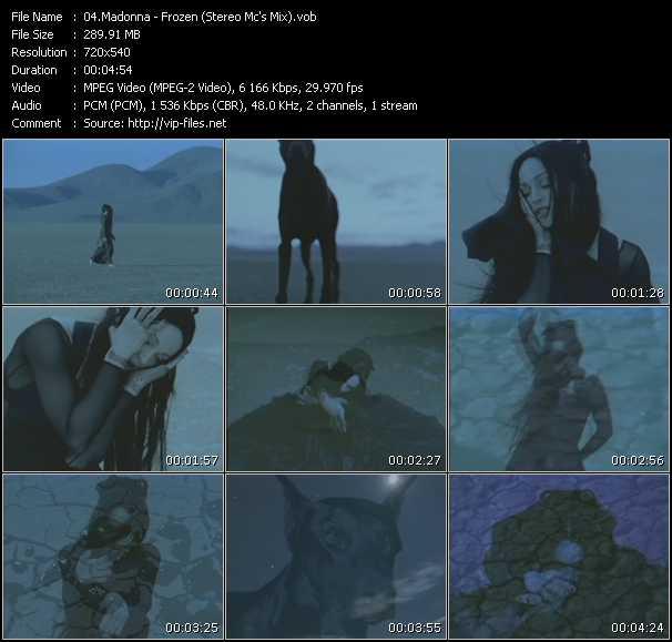video Frozen (Stereo Mc's Mix) screen