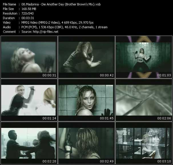 video Die Another Day (Brother Brown's Mix) screen