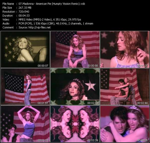 video American Pie (Humpty Vission Remix) screen