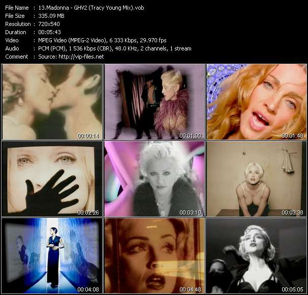 video GHV2 (Tracy Young Mix) screen