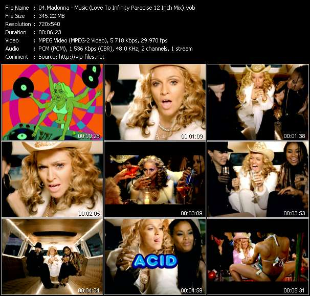 video Music (Love To Infinity Paradise 12 Inch Mix) screen