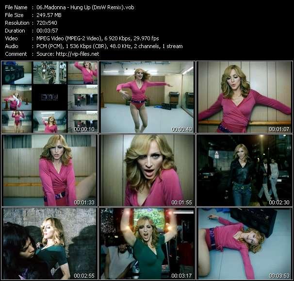 video Hung Up (DmW Remix) screen