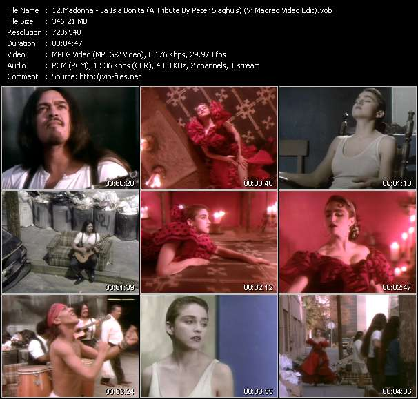 video La Isla Bonita (A Tribute By Peter Slaghuis) (The Prima-Madonna Mix) (Vj Magrao Video Edit) screen