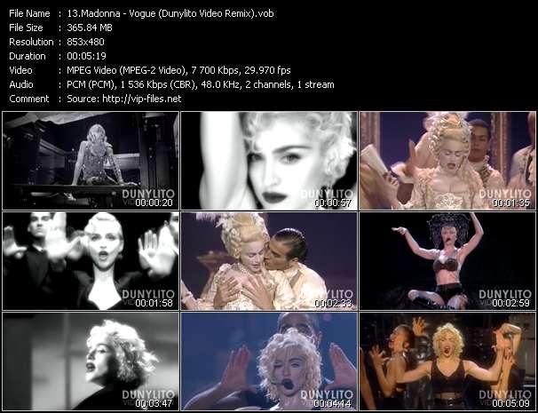 video Vogue (Dunylito Video Remix) screen