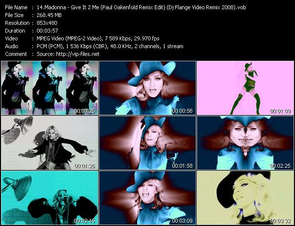 video Give It 2 Me (Paul Oakenfold Remix Edit) (Dj Flange Video Remix 2008) screen