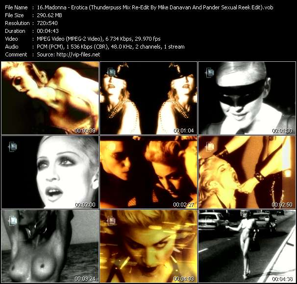 video Erotica (Thunderpuss Mix Re-Edit By Mike Danavan And Pander Sexual Reek Edit) (Video Remix By Julio Skov) screen