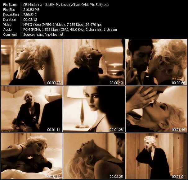 video Justify My Love (William Orbit Mix Edit) screen