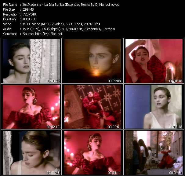 video La Isla Bonita (Extended Remix By Dj Manquin) screen
