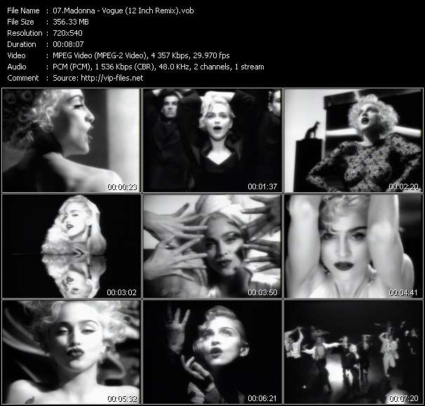 video Vogue (12 Inch Remix) screen