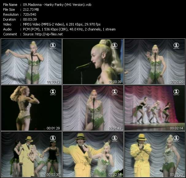 video Hanky Panky (VH1 Version) screen