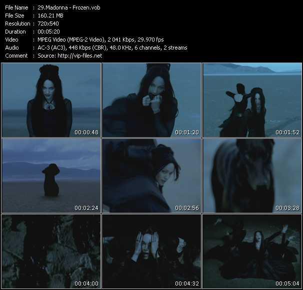 video Frozen screen