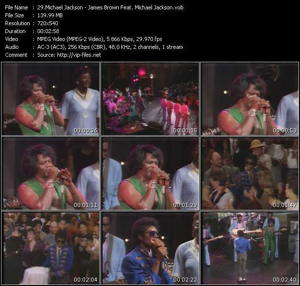 video James Brown Feat. Michael Jackson screen