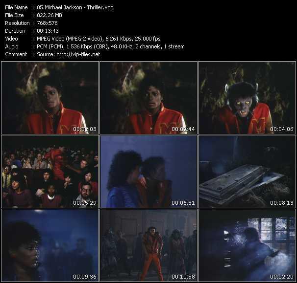 video Thriller screen