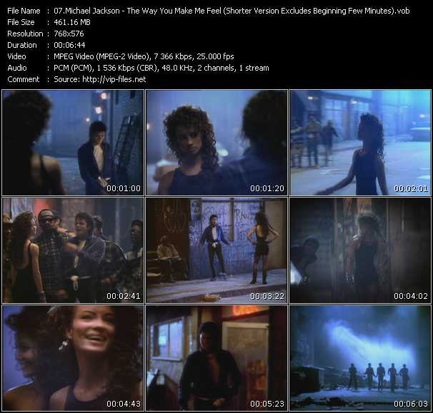 video The Way You Make Me Feel (Shorter Version Excludes Beginning Few Minutes) screen
