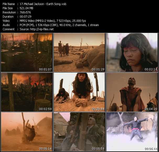 video Earth Song screen