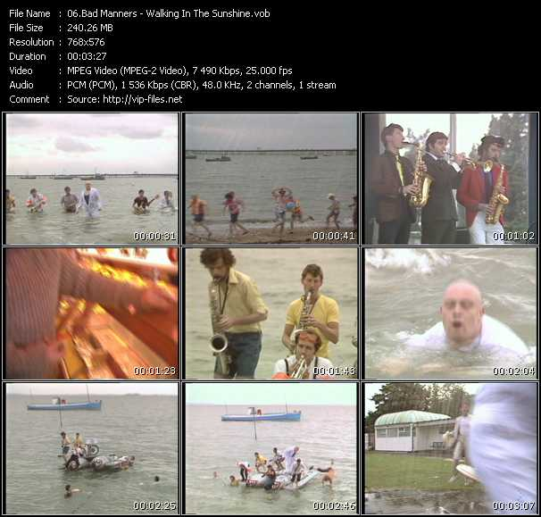 Bad Manners video screenshot