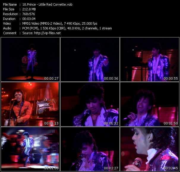 video Little Red Corvette screen
