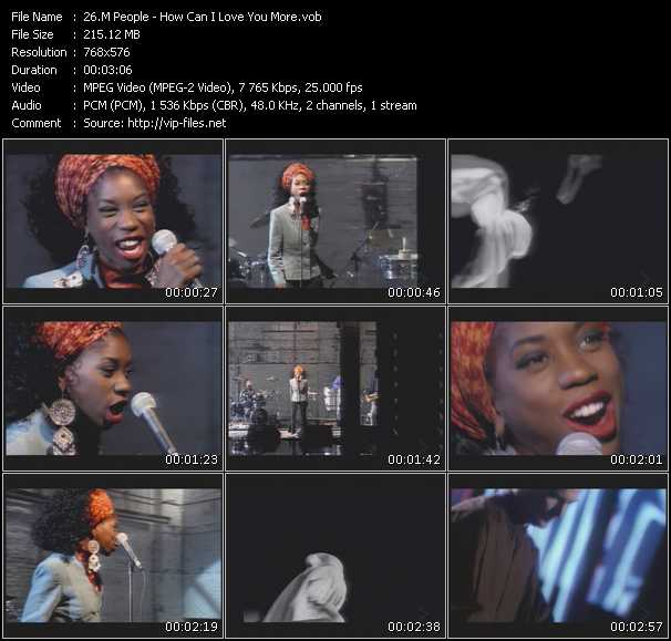 M People video screenshot