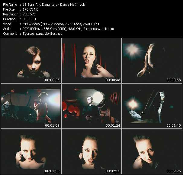 Sons And Daughters video screenshot