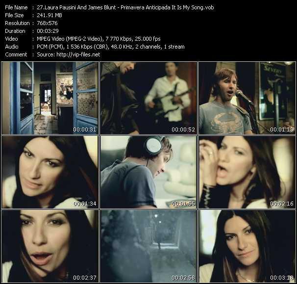 Laura Pausini And James Blunt video screenshot