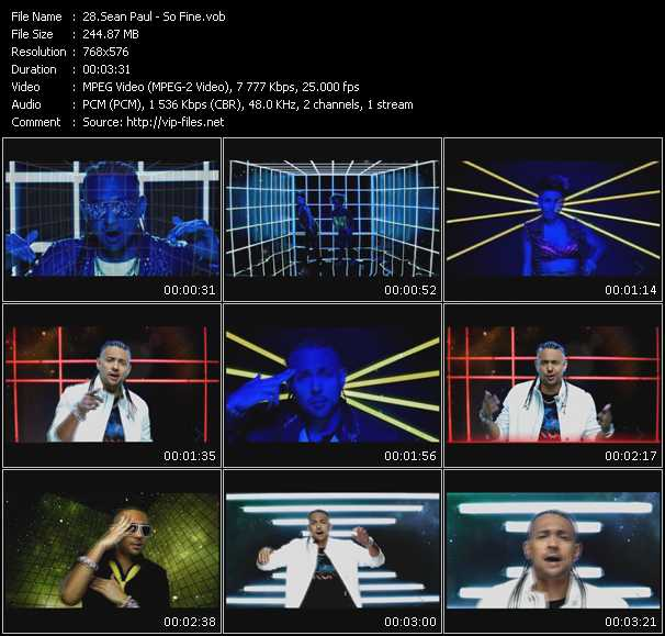 Sean Paul video screenshot