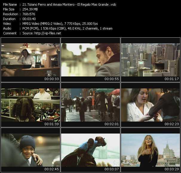 Tiziano Ferro And Amaia Montero video screenshot