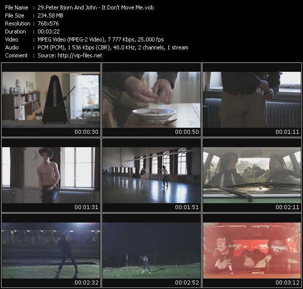Peter Bjorn And John video screenshot