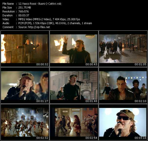 Vasco Rossi video screenshot