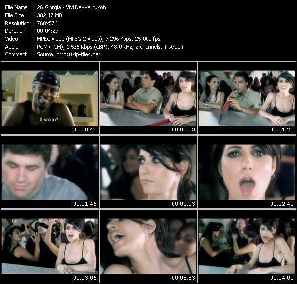 Giorgia video screenshot