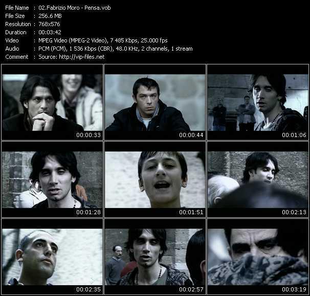 Fabrizio Moro video screenshot