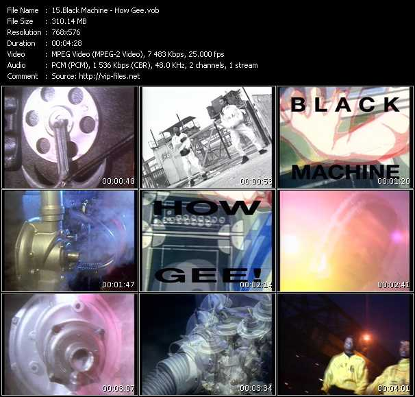 Black Machine video screenshot