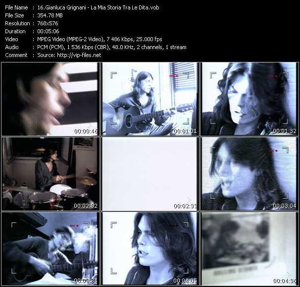 Gianluca Grignani video screenshot