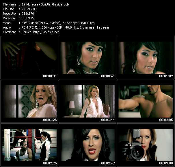 Monrose video screenshot