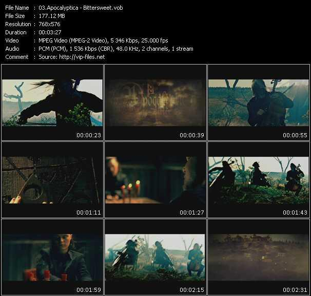 Apocalyptica video screenshot