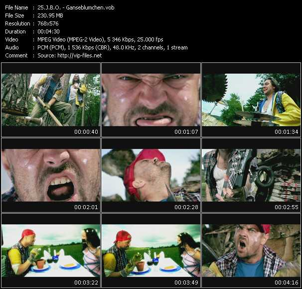 J.B.O. video screenshot