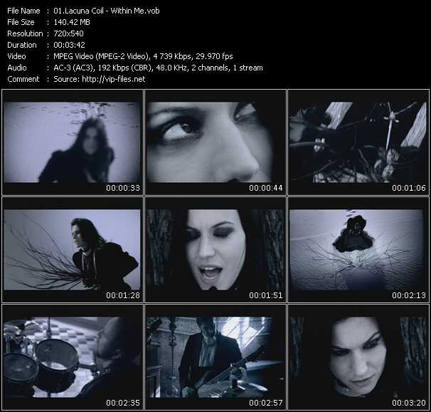 Lacuna Coil video screenshot