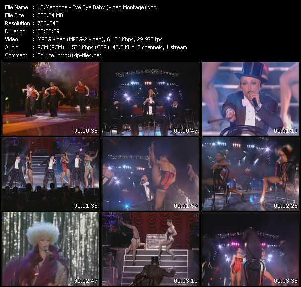 video Bye Bye Baby (Video Montage) screen