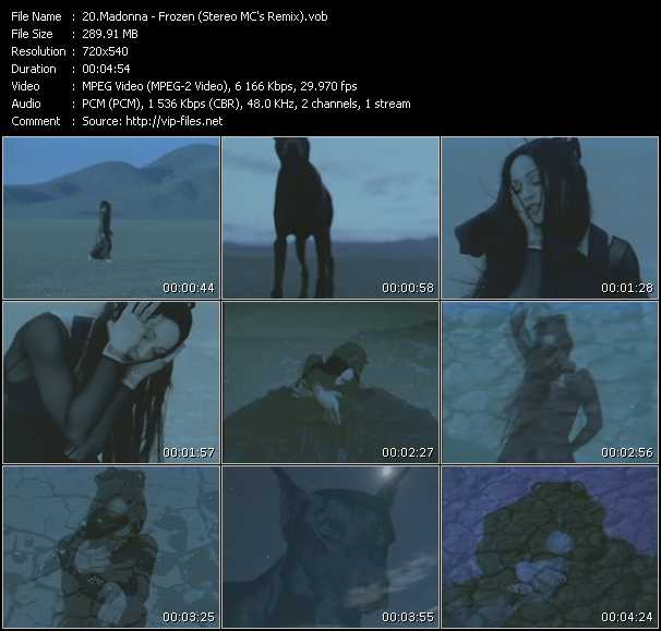 video Frozen (Stereo MC's Remix) screen
