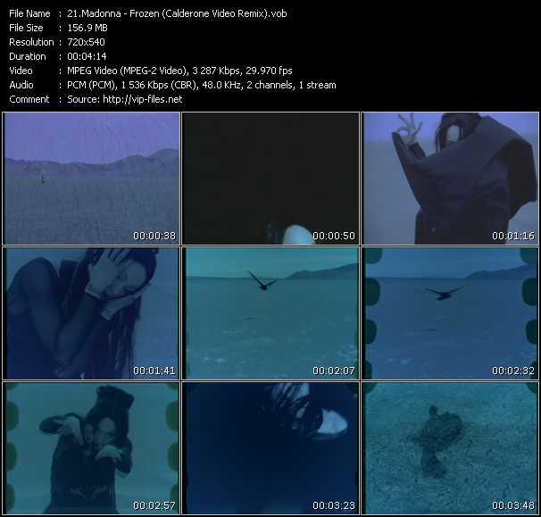 video Frozen (Calderone Video Remix) screen