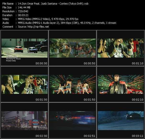 video Conteo (Tokyo Drift) screen