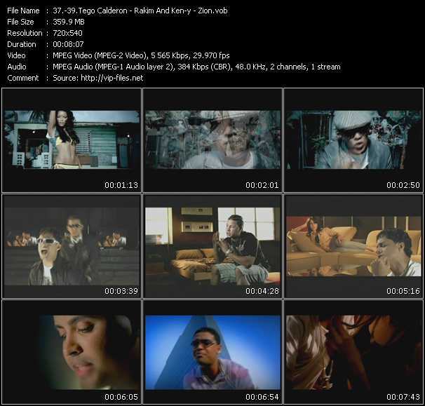 Tego Calderon - Rakim And Ken-Y - Zion video screenshot