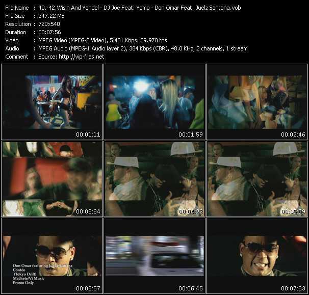 Wisin And Yandel - DJ Joe Feat. Yomo - Don Omar Feat. Juelz Santana video screenshot